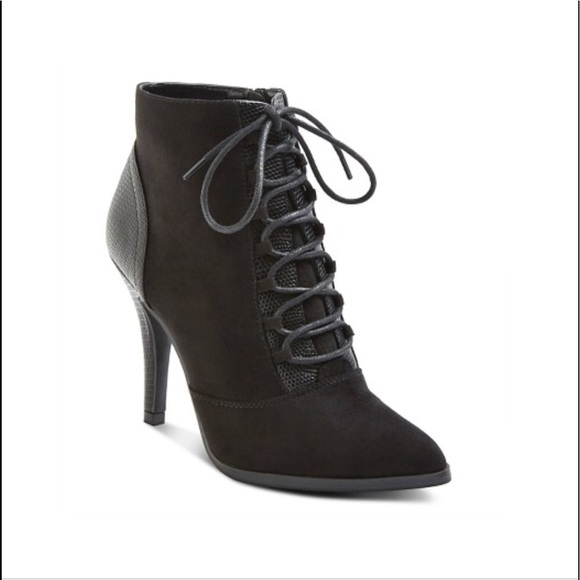 66d69a04bd6d Womens Mossimo Ciarra Lace Up Booties 7.5 NWT